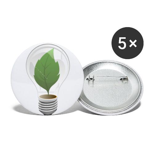 Clean Energy Green Leaf Illustration - Buttons small 1'' (5-pack)