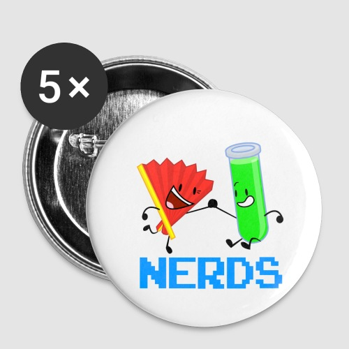 Fan Test Tube NERDS - Buttons small 1'' (5-pack)