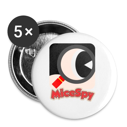 MiceSpy with your eye! - Buttons small 1'' (5-pack)
