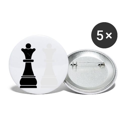 Chess Queens - Buttons small 1'' (5-pack)