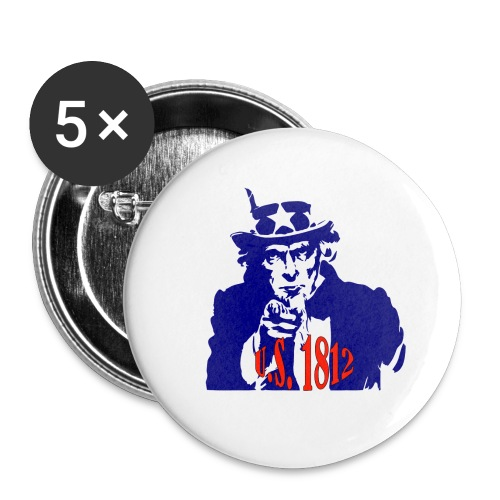 uncle-sam-1812 - Buttons small 1'' (5-pack)