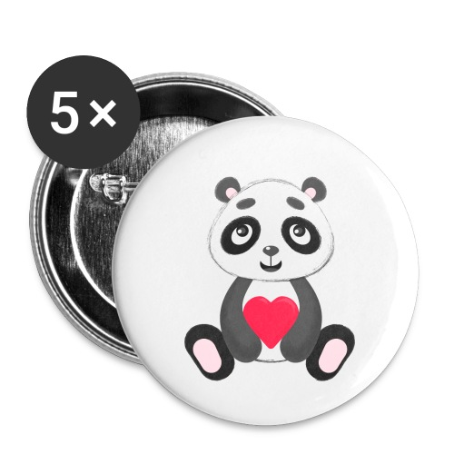 Sweetheart Panda - Buttons small 1'' (5-pack)