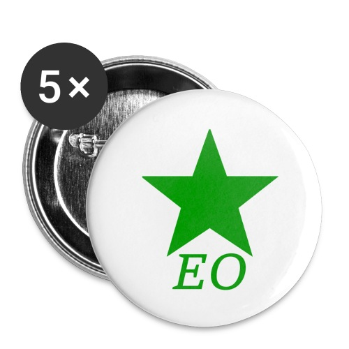 EO and Green Star - Buttons small 1'' (5-pack)