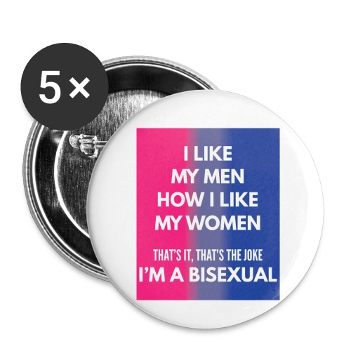 Bisexual - Bi - LGBT - Gay Pride - Gift - Buttons small 1'' (5-pack)