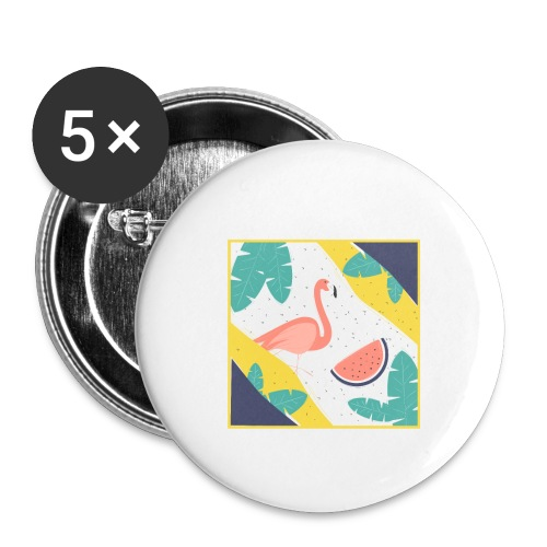 Flamingo - Buttons small 1'' (5-pack)