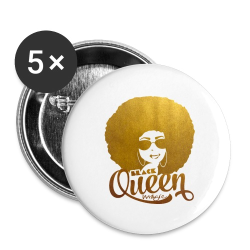 Black Queen - Buttons small 1'' (5-pack)