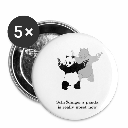 Schrödinger's panda is really upset now - Buttons small 1'' (5-pack)