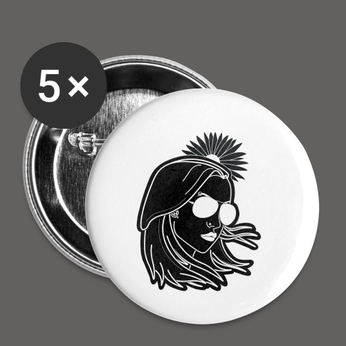 SurferGirl - Buttons small 1'' (5-pack)