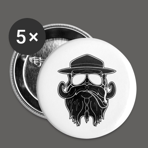 OldSchoolBiker - Buttons small 1'' (5-pack)