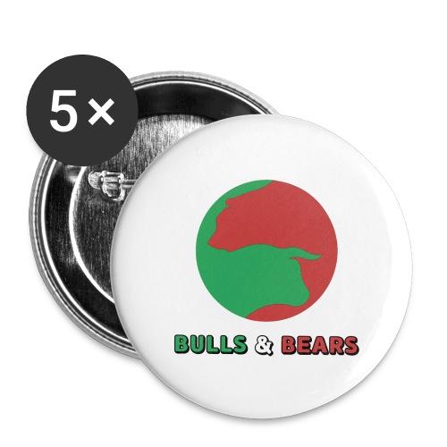 Bulls & Bears - Buttons small 1'' (5-pack)