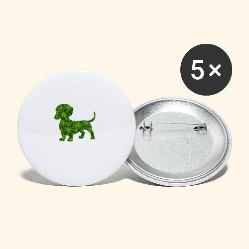PUFFY DOG - PRESENT FOR SMOKING DOGLOVER - Buttons small 1'' (5-pack)