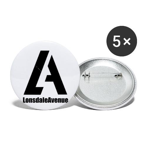 Lonsdale Avenue Logo Black Text - Buttons small 1'' (5-pack)