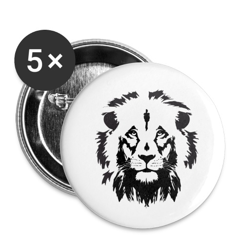 Lion head - Buttons small 1'' (5-pack)