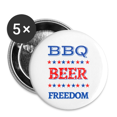 BBQ BEER FREEDOM - Buttons small 1'' (5-pack)