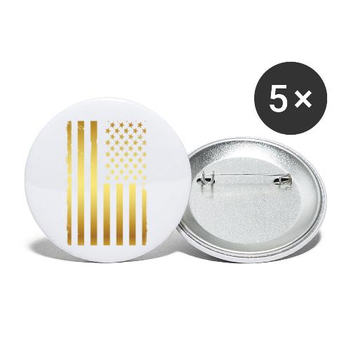 Golden american flag - Buttons small 1'' (5-pack)