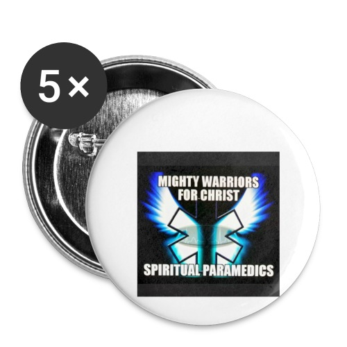 MightyWarrior PrayAnytime White - Buttons small 1'' (5-pack)