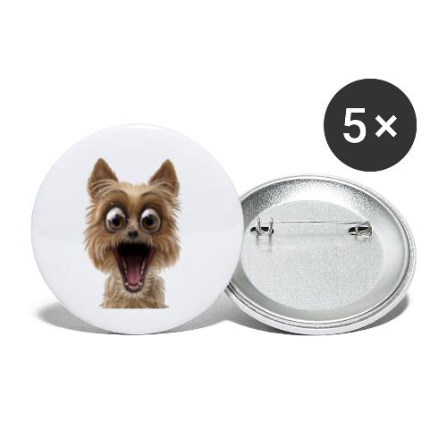 Dog puppy pet surprise pet - Buttons small 1'' (5-pack)