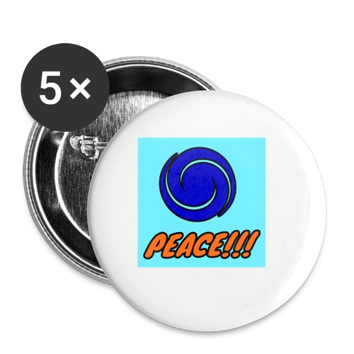 Peace - Buttons small 1'' (5-pack)
