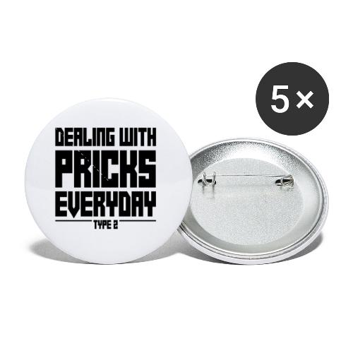 Dealing With Pricks Type 2 - Buttons small 1'' (5-pack)