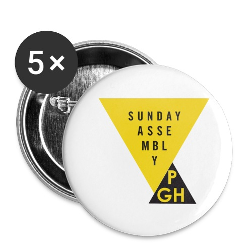 Sunday Assembly Pittsburgh Logo - Buttons small 1'' (5-pack)