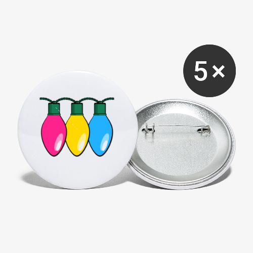 Pansexual Pride Christmas Lights - Buttons small 1'' (5-pack)