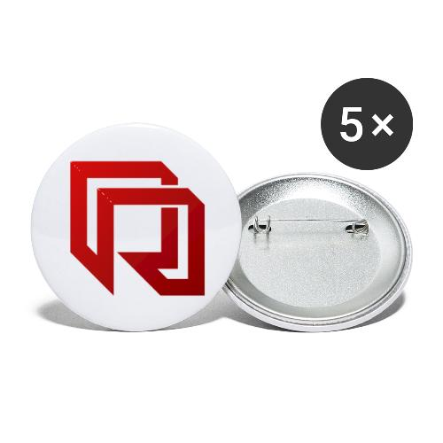Red Iron Icon (Red) - Buttons small 1'' (5-pack)