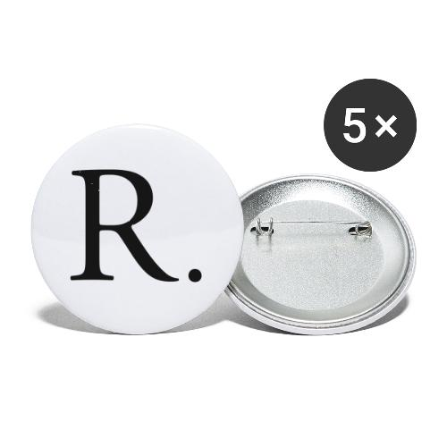 Reckoner classic (black) - Buttons small 1'' (5-pack)