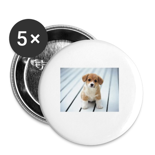 dog - Buttons small 1'' (5-pack)