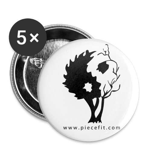 in tree black2 - Buttons small 1'' (5-pack)