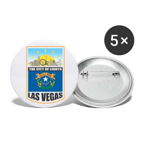 Las Vegas - Nevada - The city of light! - Buttons small 1'' (5-pack)