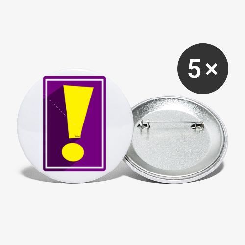 Purple Whee! Shadow Exclamation Point - Buttons small 1'' (5-pack)