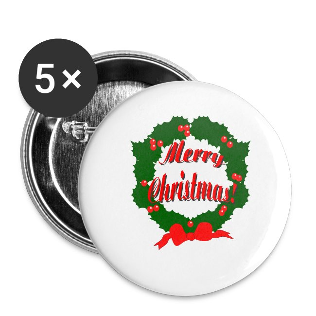 Christmas Reef.Merry Christmas Reef Buttons Small 1 5 Pack