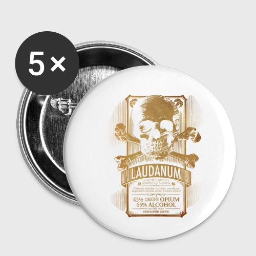 Laudanum Goth Steampunk Medical Doctor - Buttons small 1'' (5-pack)