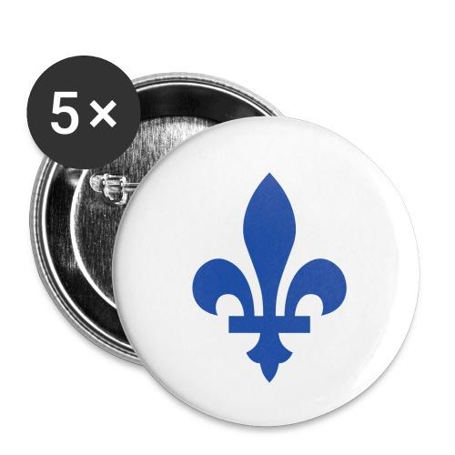 2000px Blue fleur de lis2 png - Buttons small 1'' (5-pack)