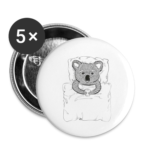 Print With Koala Lying In A Bed - Buttons small 1'' (5-pack)