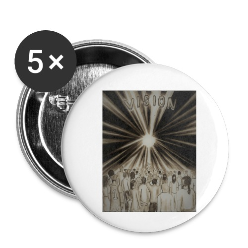 Black_and_White_Vision2 - Buttons small 1'' (5-pack)