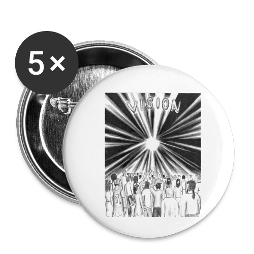 Black_and_White_Vision - Buttons small 1'' (5-pack)