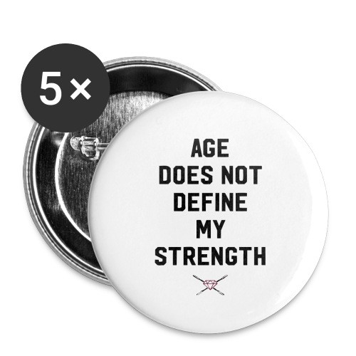 age strength black - Buttons small 1'' (5-pack)