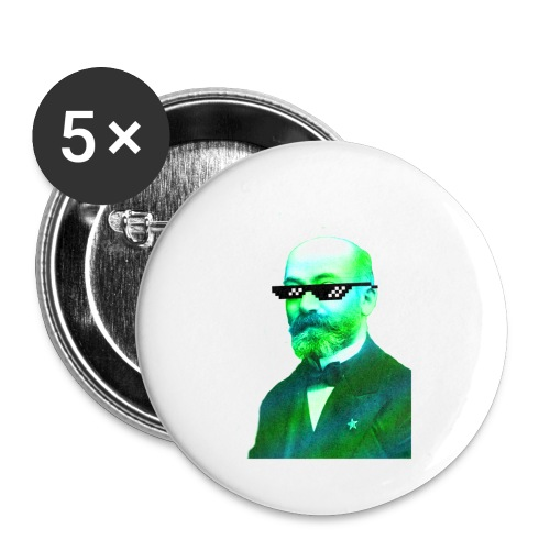 Green and Blue Zamenhof - Buttons small 1'' (5-pack)