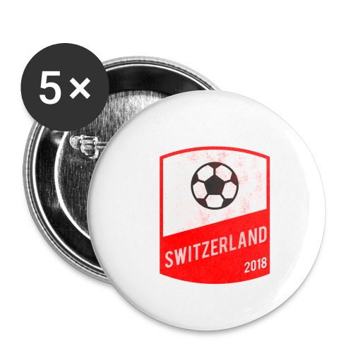 Switzerland Team - World Cup - Russia 2018 - Buttons small 1'' (5-pack)