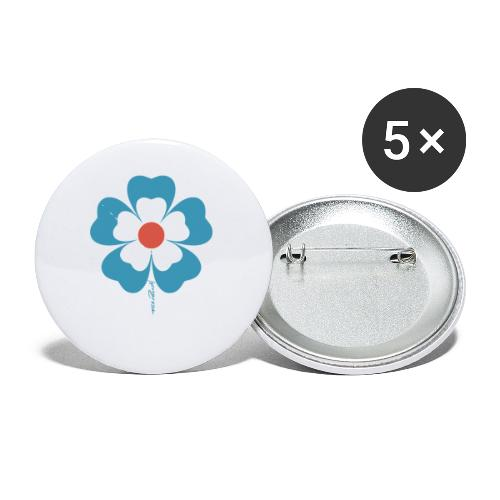 flower time - Buttons small 1'' (5-pack)