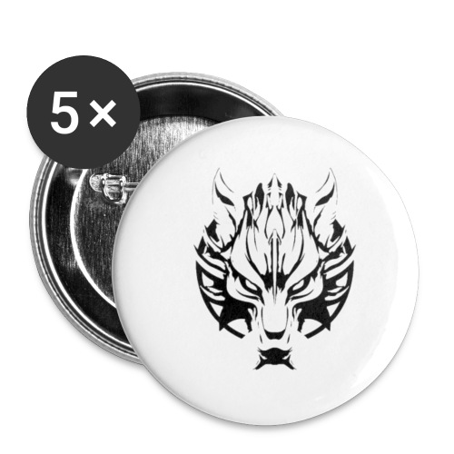 wolf - Buttons small 1'' (5-pack)