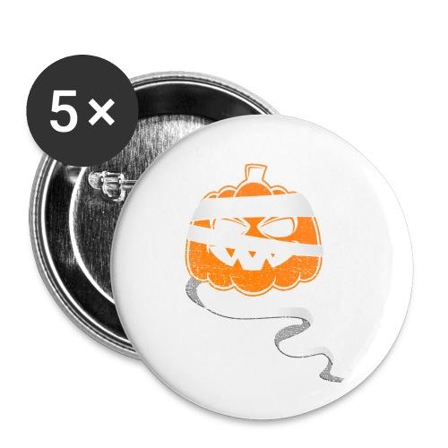Halloween Bandaged Pumpkin - Buttons small 1'' (5-pack)
