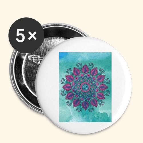 Vinatge Mandala Watercolor - Small Buttons