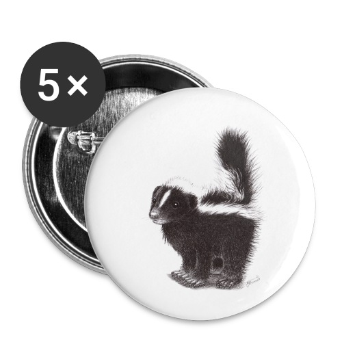 Cool cute funny Skunk - Buttons small 1'' (5-pack)