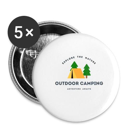 Outdoor Camping Adventure awaits T-shirt - Buttons small 1'' (5-pack)