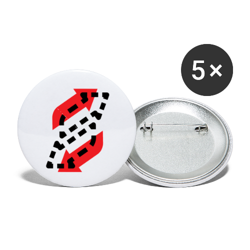 Reversed - Buttons small 1'' (5-pack)