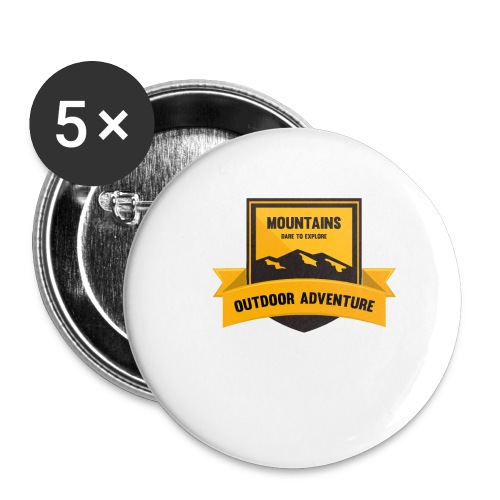 Mountains Dare to explore T-shirt - Buttons small 1'' (5-pack)