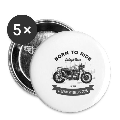 Born to ride Vintage Race T-shirt - Buttons small 1'' (5-pack)