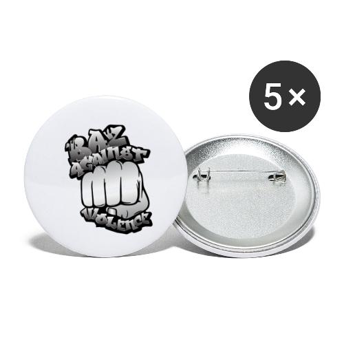 Baz Against Violence - Buttons small 1'' (5-pack)